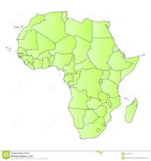 Northern Africa Blank Map by Outline Map Of Africa Stock Image Image 14749961