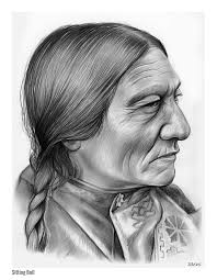 red cloud america indian chief graphite pencil sketch by greg