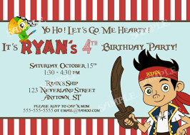 fourth of july birthday invitations free jake and the neverland pirates birthday invitations