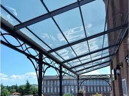 coperture tettoie in pvc tettoie trasparenti per esterni in policarbonato e vetro
