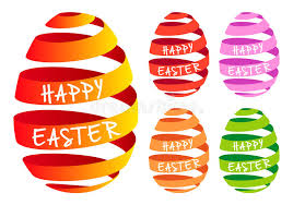 easter ribbon ribbon easter eggs vector set stock vector illustration of color