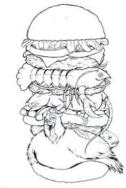 burger king dissection food obsessed pinterest illustrators