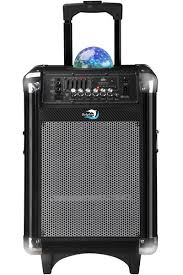 bluetooth party speakers with lights sp 7r bt dolphin audio rechargeable tailgate trolley speaker