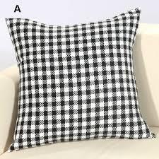 jeter un canapé oreillers en coton à carreaux pour jeter un canapé lit