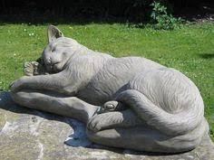 cat statue pet memorial marker fur babies