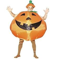 Inflatable Halloween Costumes Inflatable Pumpkin Pie Hat Suit Halloween Party Fancy Dress
