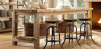 wood kitchen island interior decoration rustic kitcen with brown rustic