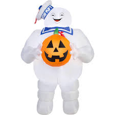 halloween inflateables gemmy airblown inflatable 5 u0027 x 3 u0027 ghostbusters stay puft with