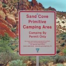 Map St George Utah by Red Cliffs Desert Reserve Sand Cove Access
