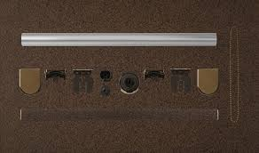 coulisse absolute roller blind system combined with old brass