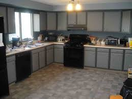 Kitchen Colors With Black Cabinets Creative Of Modern Kitchen With Black Appliances Gray Kitchen