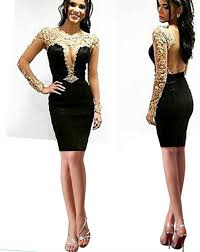 aliexpress com buy sparkly black and gold short prom dresses