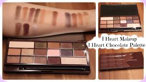 i heart makeup i heart chocolate palette review u0026 live swatches