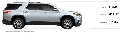 Traverse Interior Dimensions 2018 Chevy Traverse Mid Size Suv Gm Fleet