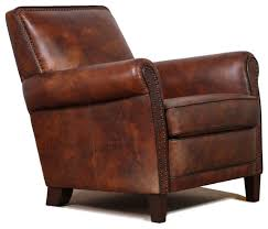 leather accent club chair traditional armchairs and accent