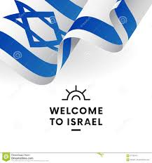 Welcome Flag Welcome To Israel Israel Flag Patriotic Design Vector Stock
