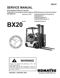 warning service manual komatsu forklift usa inc v3 1