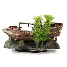 oj 3 aquarium decoration sunken ship ornament alex nld
