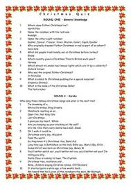 Ideas For Christmas Quizzes by Free General Knowledge Quiz Questions Pub Quiz Questions