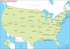 louisiana map in usa map usa new orleans travel maps and major tourist attractions maps