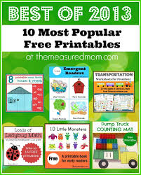 most popular printables of 2013 the measured mom