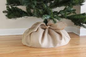 burlap tree skirt with grey carpet and lighting l