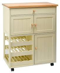 Freestanding Kitchen Furniture Traditional Buttermilk Multi Purpose Country Kitchen Wooden Mobile