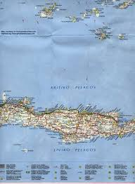 Map Of Crete Greece by Map Of Greece