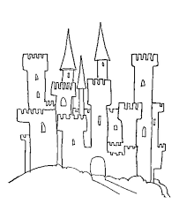 drawn castle printable pencil color drawn castle printable