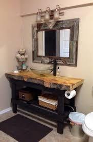 Rustic Bathroom Furniture Reclaimed Barnwood Open Vanity Rustic Bathrooms Vanities And Cabin