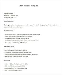 Mba Resume Example Sample Mba Resume Sample Resume Mba Resume Examples Sample Mba