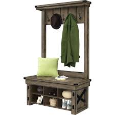 Entryway Coat Rack With Bench by Hall Tree With Storage Bench Rustic Grey Shoe Coat Rack For