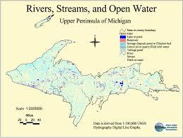 Michigan River Map by Hydrography Of Michigan U0027s Upper Peninsula