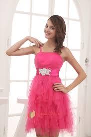 pink short puffy prom dresses 2016 pink one shoulder cocktail