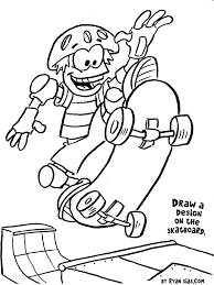 free printable sports coloring pages skateboard gianfreda net