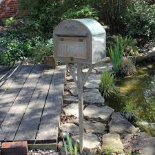 free standing metal post box mail garden shabby vintage chic