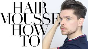 Gatsby Hairstyle Men by How To Use Hair Mousse Youtube