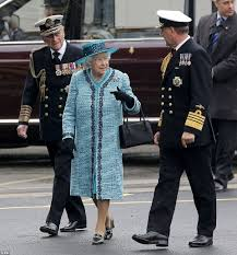 queen uses bottle of whisky to name royal navy u0027s biggest ever ship