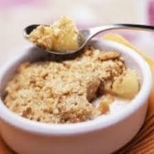 cuisiner la poir recette crumble aux pommes poire et spéculoos