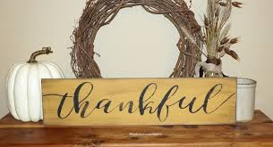 family home decor thankful wood sign thanksgiving family home decor thanksgiving