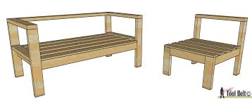 Free Wood Outdoor Furniture Plans by Diy Outdoor Seating Her Tool Belt