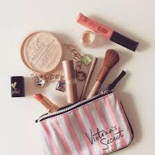 victoria s secret pink cosmetic bag make up wash bag pouch