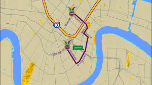 New Orleans Parade Routes Map by Zulu Parade Route Wwltv Com
