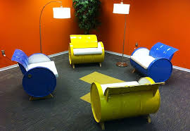 55 gallon steel drums repurposed into amazing furniture collection