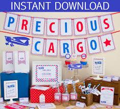 precious cargo baby shower precious cargo baby shower diy printable kit instant
