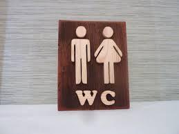wooden bathroom signs simple home design ideas academiaeb com