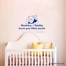 mommy and daddy love baby quote vinyl wall sticker cute bear
