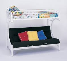 Amazoncom Bunk Bed C Style Twin  Futon Bunk Bed In White - Futon bunk bed