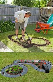 decorate home games cute outdoor play idea pour concrete paint it black and