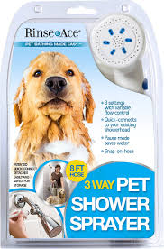 rinse ace 3 way shower sprayer dog grooming tool 8 ft hose white